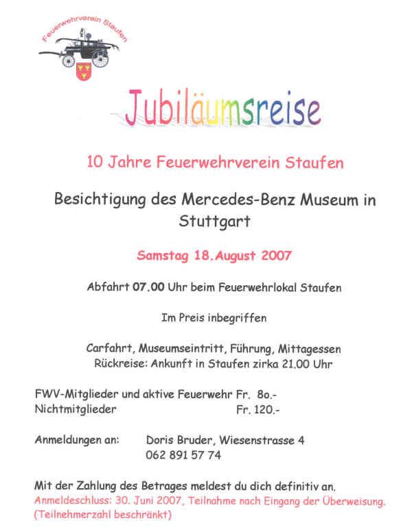 mercedes-museum, Einladung